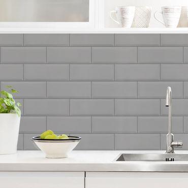 Rivestimento cucina - Mattonelle in ceramica grigio chiaro