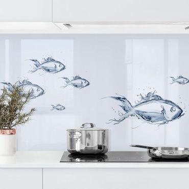 Rivestimento cucina - Pesciolino liquido argento I