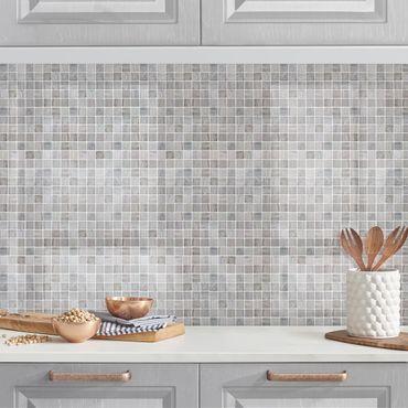 Rivestimento cucina - Mosaici effetto marmo