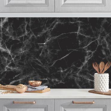 Rivestimento cucina - Marmo nero Carrara