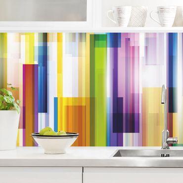 Rivestimento cucina - Cubi color arcobaleno I