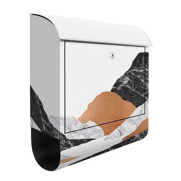 Cassetta postale - Paesaggio in marmo e rame II