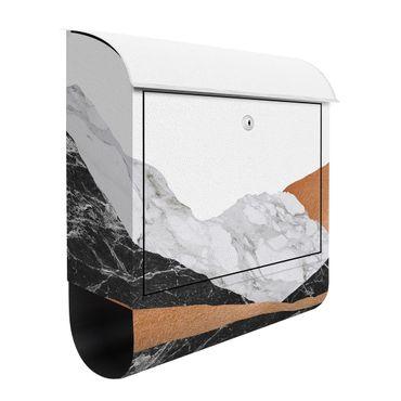 Cassetta postale - Paesaggio in marmo e rame