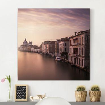 Stampa su tela - Serata a Venezia - Quadrato 1:1