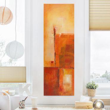 Stampa su tela - Petra Schüßler - Abstract Orange Brown - Pannello
