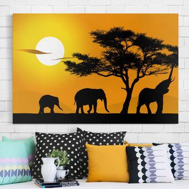 Stampa su tela - African Elephant Walk - Orizzontale 3:2