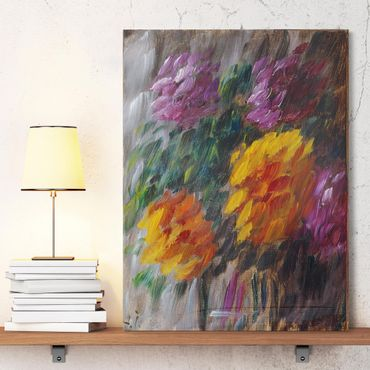 Stampa su tela - Alexej von Jawlensky - Crisantemi nella tempesta - Verticale 3:4