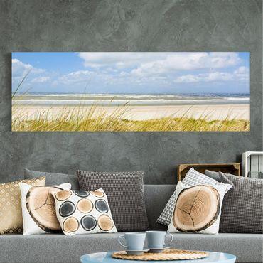 Stampa su tela - At The North Sea Coast - Panoramico