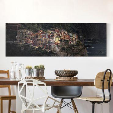 Stampa su tela - Manarola alla Luce del Sole - Panoramico