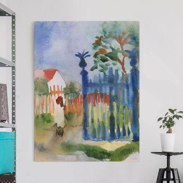 Stampa su tela - August Macke - Cancello del giardino - Verticale 3:4