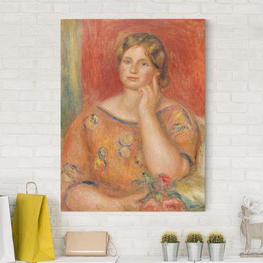 Stampa su tela - Auguste Renoir - Ritratto di Gertrude Osthaus - Verticale 3:4
