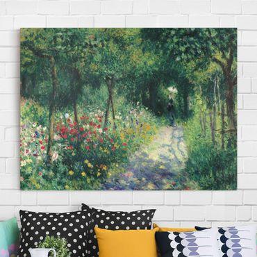 Stampa su tela - Auguste Renoir - Donne in un Giardino - Orizzontale 4:3