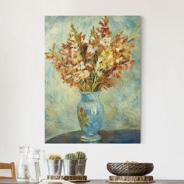 Stampa su tela - Auguste Renoir - Gladiolus in Vaso blu - Verticale 3:4