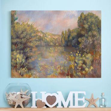 Stampa su tela - Auguste Renoir - Paesaggio con un Lago - Orizzontale 4:3