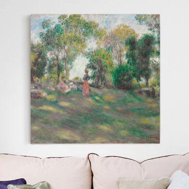 Stampa su tela - Auguste Renoir - Landscape with Figures - Quadrato 1:1
