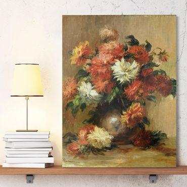 Stampa su tela - Auguste Renoir - Natura morta con Dahlia - Verticale 3:4