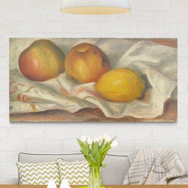 Stampa su tela - Auguste Renoir - Due Mele e Limone - Orizzontale 2:1