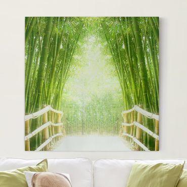 Stampa su tela - Bamboo Way - Quadrato 1:1