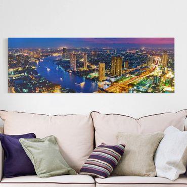 Stampa su tela - Bangkok Skyline - Panoramico