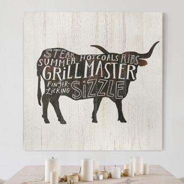 Stampa su tela - Farm BBQ - Beef - Quadrato 1:1