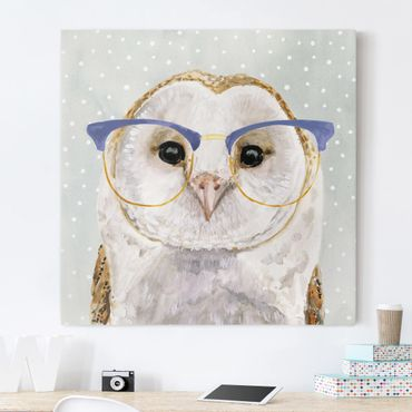 Stampa su tela - Animals With Glasses - Owl - Quadrato 1:1