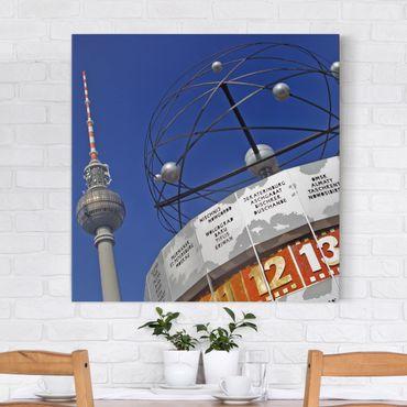 Stampa su tela - Berlin Alexanderplatz - Quadrato 1:1