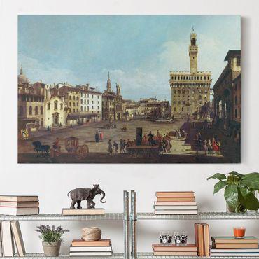 Stampa su tela - Bernardo Bellotto - The Piazza della Signoria in Florence - Orizzontale 3:2