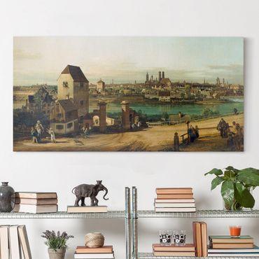 Stampa su tela - Bernardo Bellotto - Monaco di Baviera, visto da Haidhausen - Orizzontale 2:1