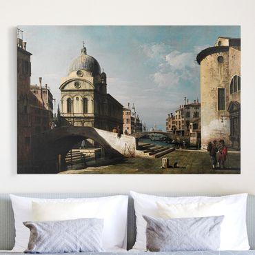 Stampa su tela - Bernardo Bellotto - Venetian Capriccio, View of Santa Maria dei Miracoli - Orizzontale 3:2