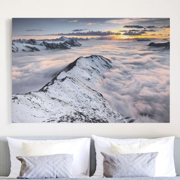 Stampa su tela - View of clouds and mountains - Orizzontale 3:2