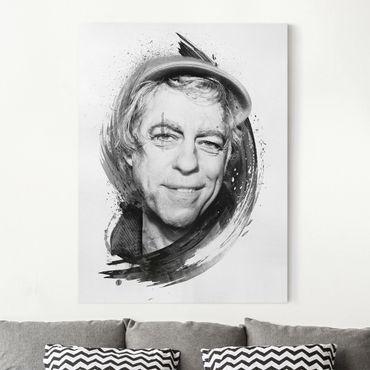 Stampa su tela - Bob Geldof - Strassenkoeter - Viva Con Agua - Verticale 3:4