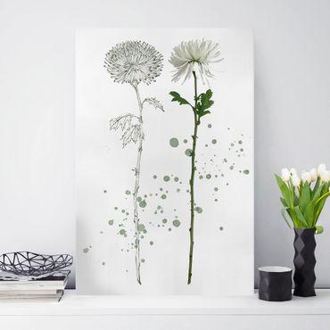 Stampa su tela - Acquerello Botanico - Dandelion - Verticale 2:3