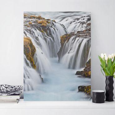 Stampa su tela - Bruarfoss Waterfall In Iceland - Verticale 3:4