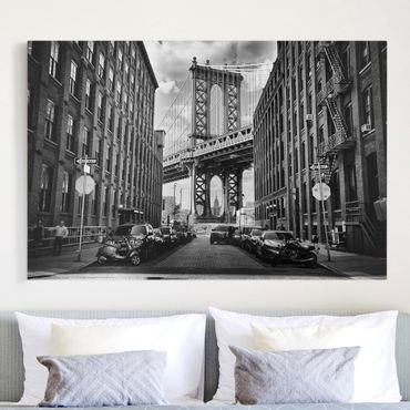 Stampa su tela - Manhattan Bridge in America - Orizzontale 3:2