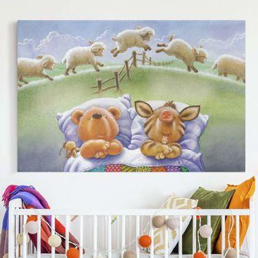 Stampa su tela - Orsetto Buddy - Counting Sheep - Orizzontale 3:2