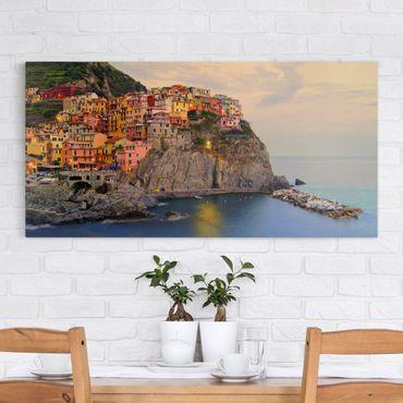 Stampa su tela - Colorful Coastal Town - Orizzontale 2:1