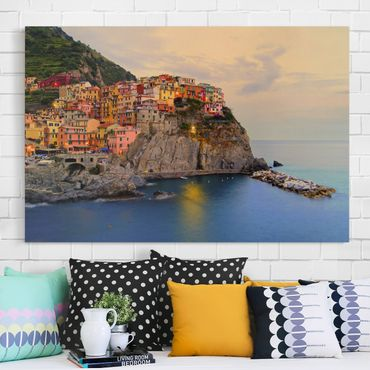 Stampa su tela - Colorful coastal town - Orizzontale 3:2