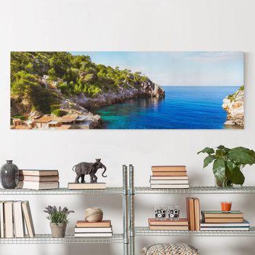 Stampa su tela - Cala De Deia In Majorca - Panoramico