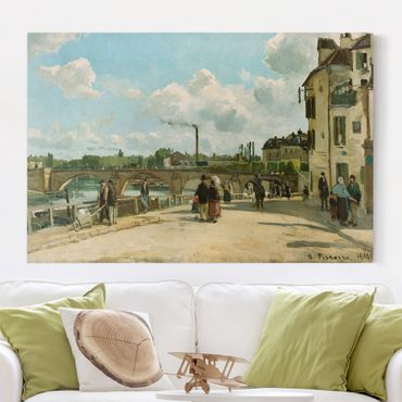 Stampa su tela - Camille Pissarro - View Of Pontoise - Orizzontale 3:2
