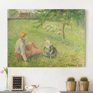 Stampa su tela - Camille Pissarro - La ragazza delle oche - Orizzontale 4:3
