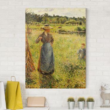 Stampa su tela - Camille Pissarro - La Raccolta del Fieno - Verticale 3:4