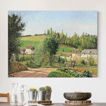 Stampa su tela - Camille Pissarro - Piccolo Villaggio nei pressi di Pontoise - Orizzontale 4:3