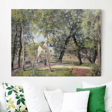 Stampa su tela - Camille Pissarro - Paesaggio a Osny vicino Irrigazione - Orizzontale 4:3