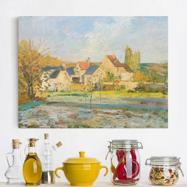 Stampa su tela - Camille Pissarro - Paesaggio vicino Pontoise - Orizzontale 4:3