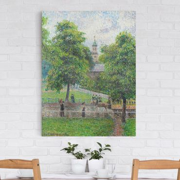 Stampa su tela - Camille Pissarro - Chiesa di Sant'Anna, Kew, Londra - Verticale 3:4