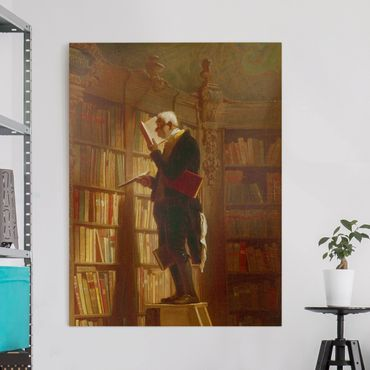 Stampa su tela - Carl Spitzweg - The Bookworm (Dettaglio) - Verticale 3:4