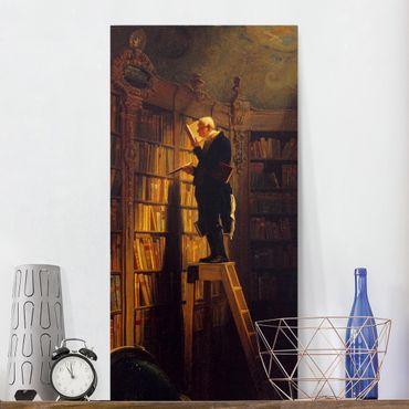 Stampa su tela - Carl Spitzweg - Le Rat De Bibliothèque - Verticale 1:2