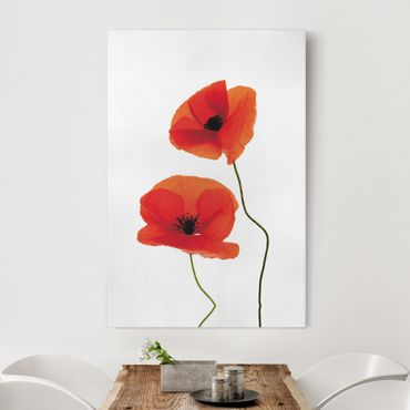 Stampa su tela Charming Poppies - Verticale 2:3