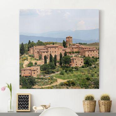 Stampa su tela - Charming Tuscany - Quadrato 1:1