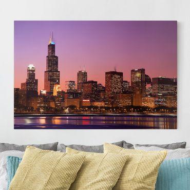 Stampa su tela - Chicago skyline - Orizzontale 3:2